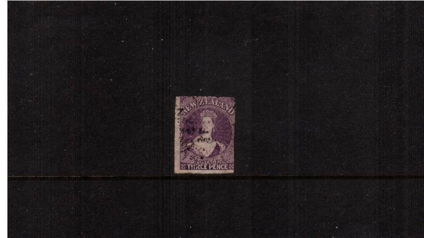 3d Lilac - Watermark Large Star<br/>A lightly used single but with cut nto sides. Probably an SG117 Cat �