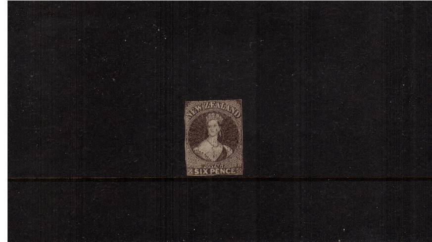 6d Brown - Watermark Large Star<br/>An imperforate single with some gum that obviously may have been perforated at one stage!<br/>You decide! Offered ''as is''.  