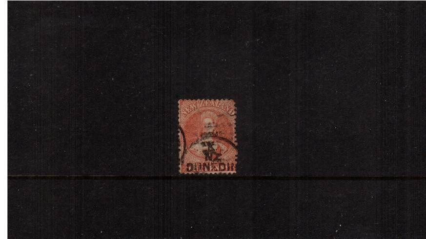 1d Carmine-Vermilion - Watermark Large Star - Perforation 12�br/>