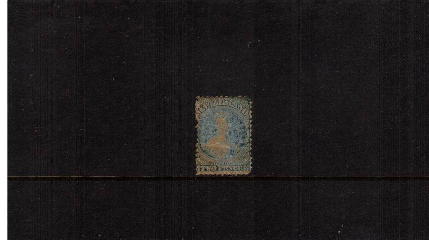 2d Pale Blue - Watermark Large Star - Perforation 12�br/>