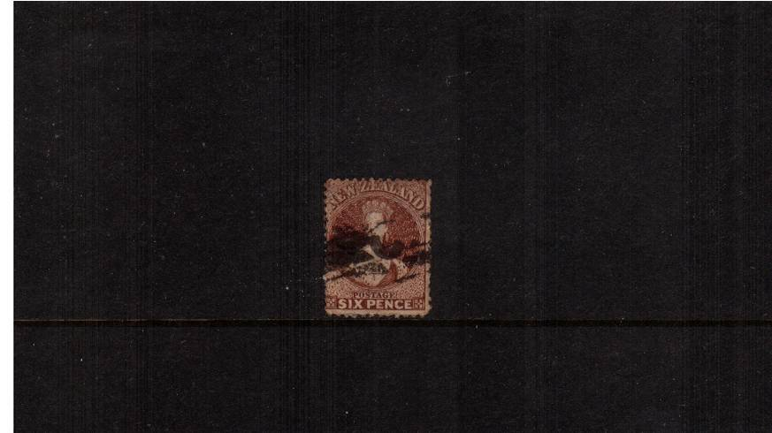 6d Red-Brown - Watermark Large Star - Perforation 12�br/>