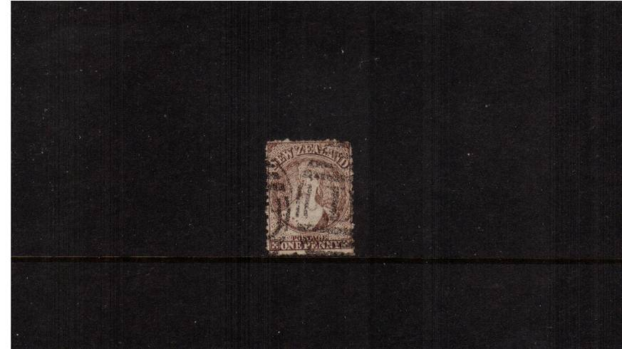 1d Brown (worn plate) - Watermark Large Star - Perforation 12�br/>