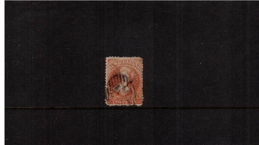 2d Vermilion - Watermark Large Star - Perforation 12�br/>