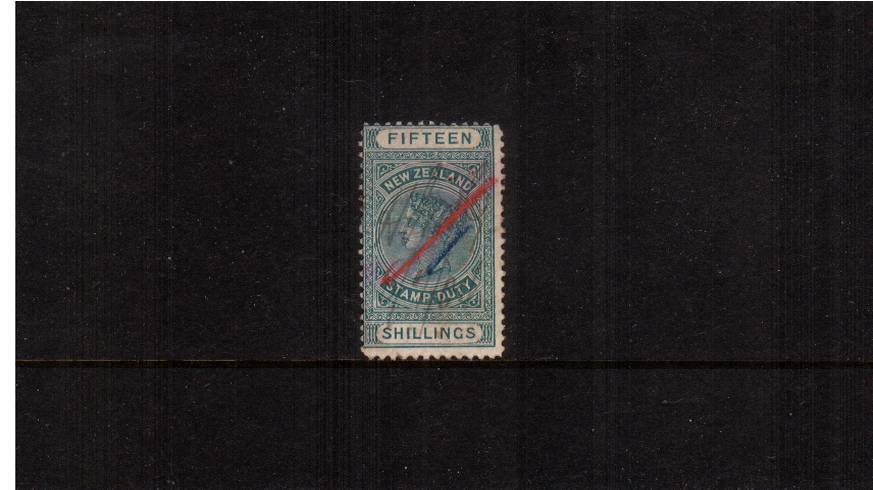 15/- Green - Perforation 11<br/>