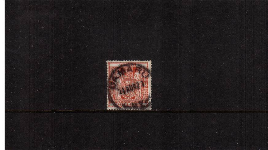 4/- Red Postal Fiscal<br/>