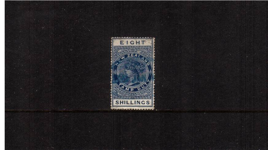 8/- Deep Blue Postal Fiscal<br/>
