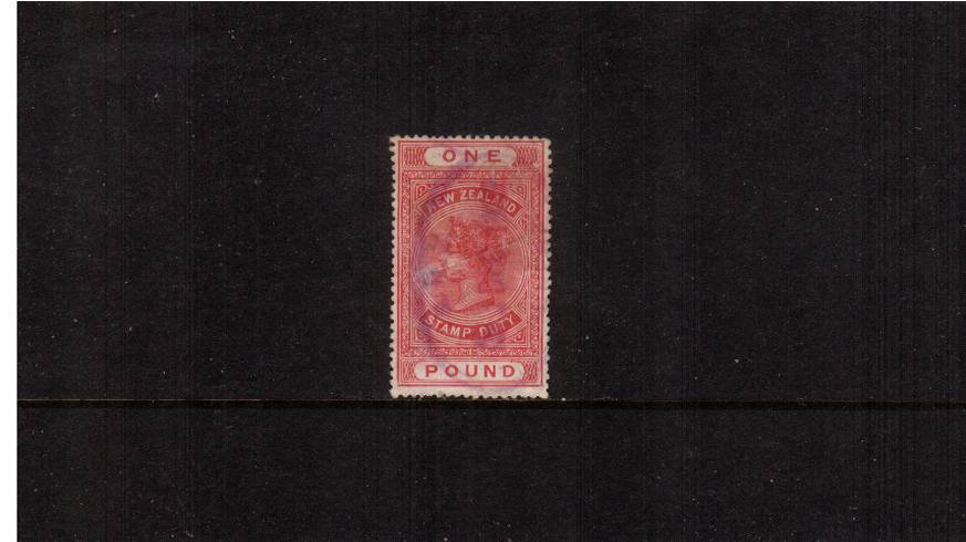 �Rose-Carmine - Perforation 14絰14 Postal Fiscal<br/>A bright well centered stamp cancelled with a light oval fiscal cancel.<br/>The stamp has a few minor scratches mentioned for accuracy. SG Cat �