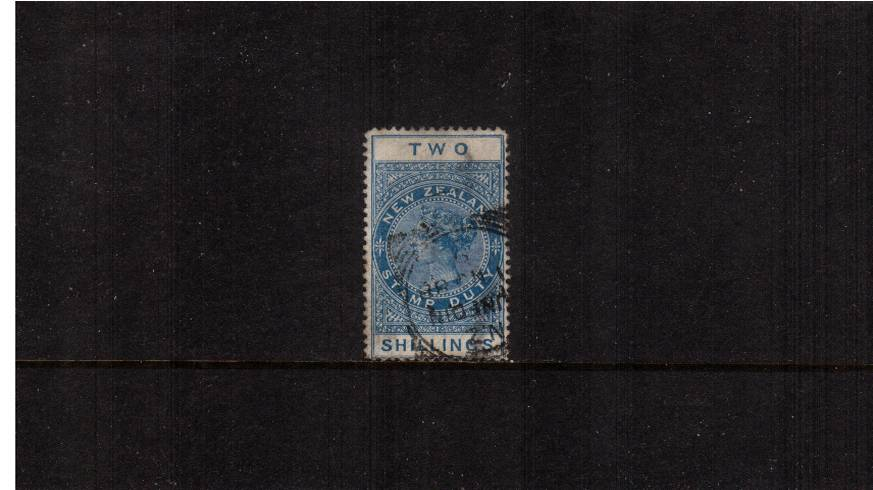 2/- Blue - Perforation 12� Postal Fiscal<br/>