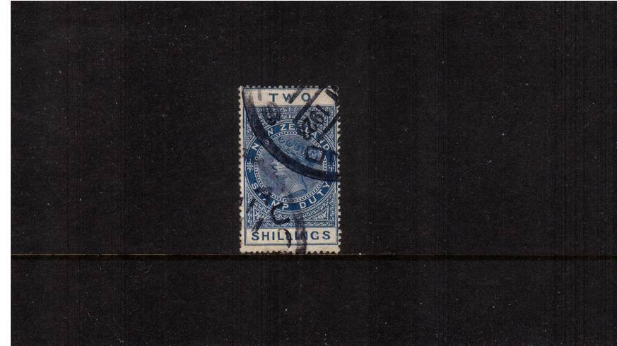 2/- Blue - Perforation 14絰14 Postal Fiscal<br/>