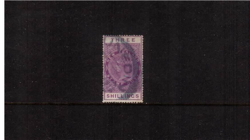 3/- Mauve - Perforation 14絰14 Postal Fiscal<br/>