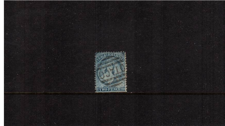 2d Pale Blue - Worn Plate - Watermark Large Star - Perforation 12�br/>