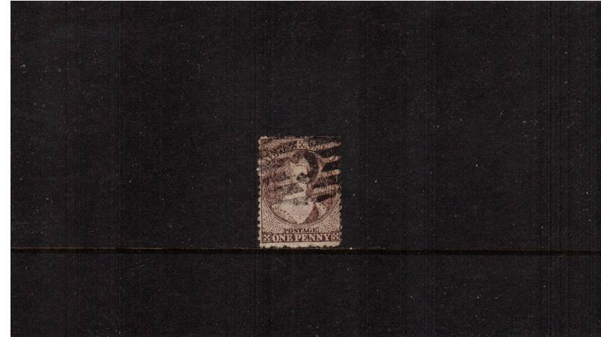 1d Red-Brown - Watermark Large Star - Perforation 12�br/>