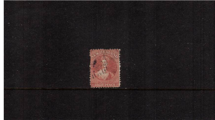 4d Deep Rose - Watermark Large Garter - Perforation 12�br/>