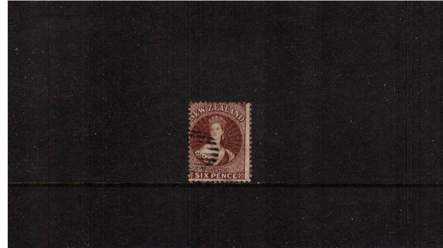 6d Brown - Watermark Large Star - Perforation 12�br/>