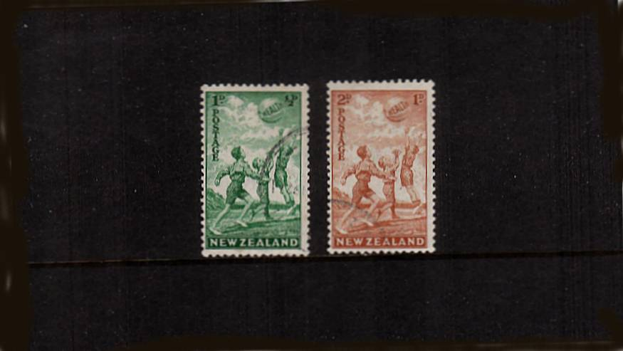 The unsurcharged set of two superb fine used. The unsurcharged set of two superb
