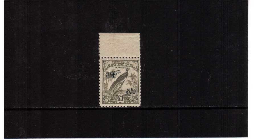 �Olive-Grey top marginal single superb unmounted mint