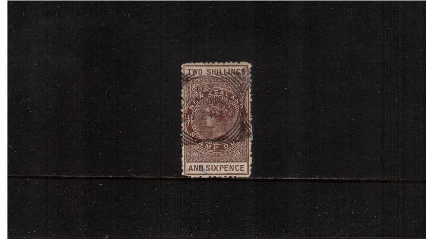 2/6d Grey-Brown - Perforation 12 Postal Fiscal<br/>