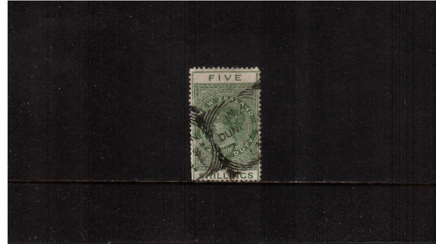 5/- Green  - Perforation 12� Postal Fiscal<br/>
