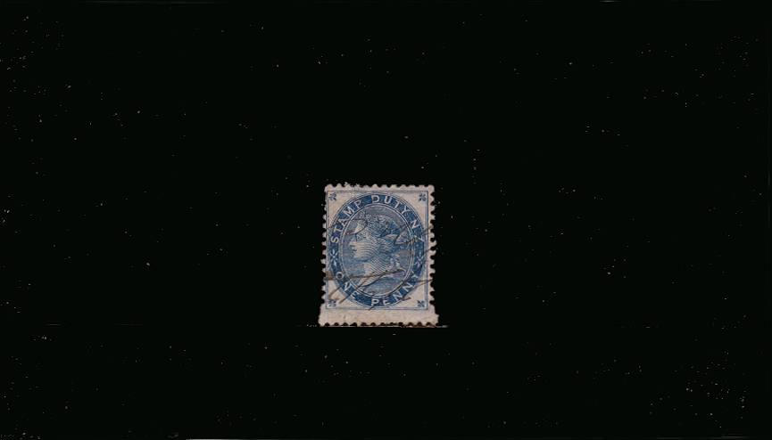 1d Blue Postal Fiscal<br/>