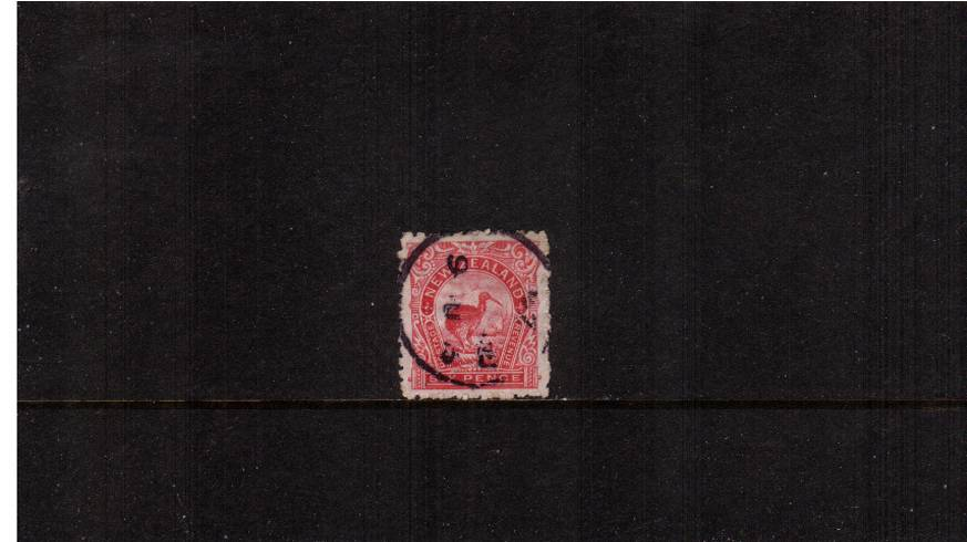 6d Rose Carmine - ''Pictorials'' - Watermark ''Single'' NZ - Perforation 11<br/>