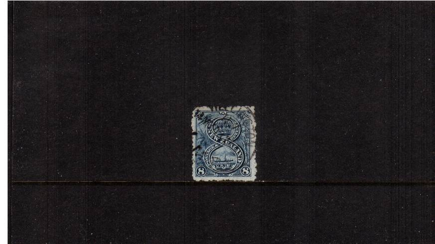 8d Blue - ''Pictorials'' - Watermark ''Single'' NZ - Perforation 11<br/>