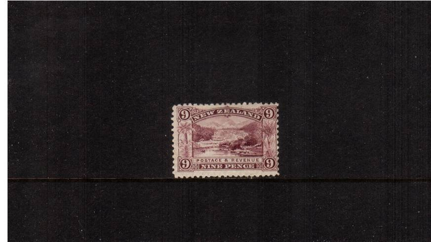 9d Purple - ''Pictorials'' - Watermark ''Single'' NZ - Perforation 11<br/>