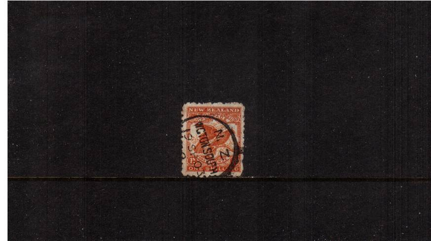 1/-  Orange-Brown - ''Pictorials'' - Watermark ''Single'' NZ - Perforation 11<br/>