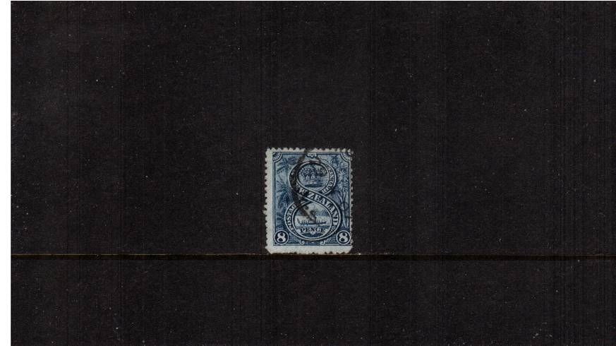 8d Steel-Blue - ''Pictorials'' - Watermark ''Single'' NZ - Perforation 14<br/>