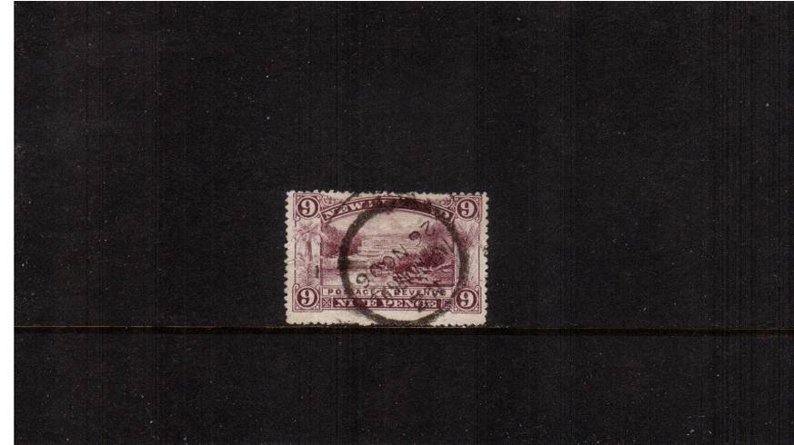 9d Purple  - ''Pictorials'' - Watermark ''Single'' NZ - Perforation 14<br/>