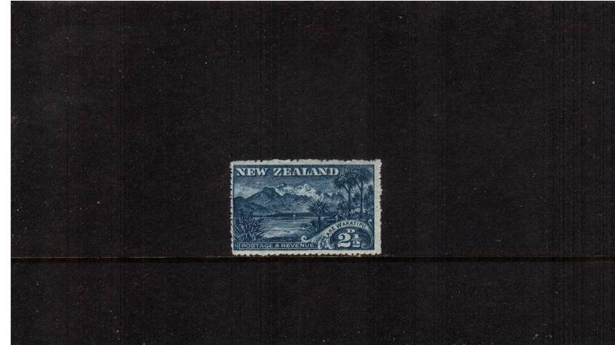 2½d Deep Blue    - ''Pictorials'' - Watermark ''Single'' NZ - Perforation 14<br/>