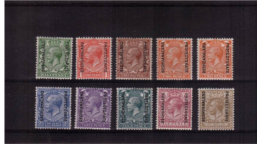 A superb unmounted mint set of nine with the bonus of the 2d Orange SG listed shade.