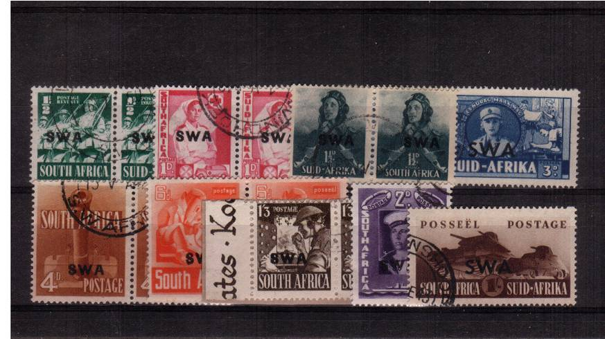 The WAR EFFORT set of seven pairs and two single superb fine used. SG Cat �<br/><b>QTQ</b>