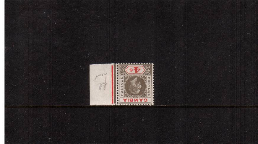 4/- Black and Red<br/>