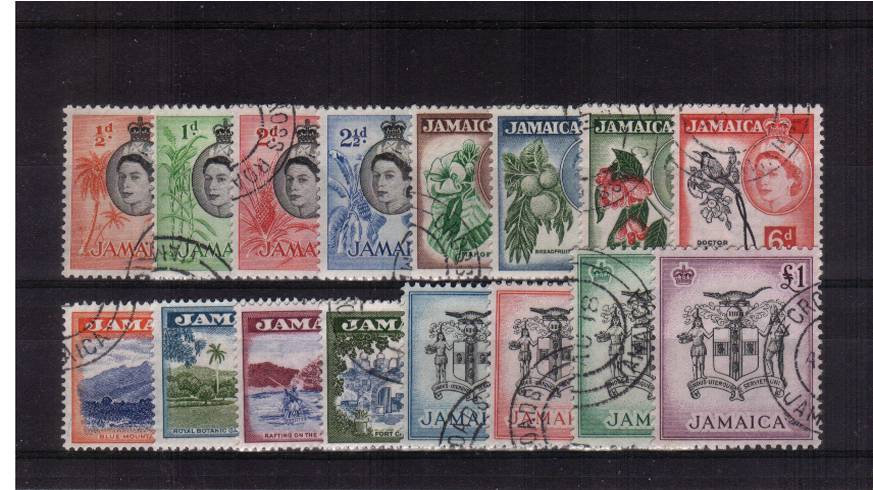 A superb fine used set of sixteen each stamp with a circular date stamp.
