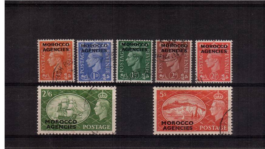 A superb fine used set of seven.