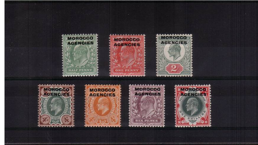 A very fresh lightly mounted mint set to the 1/- stamp.SG Cat �