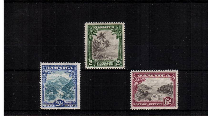 A fine very, very lightly mounted mint set of three.