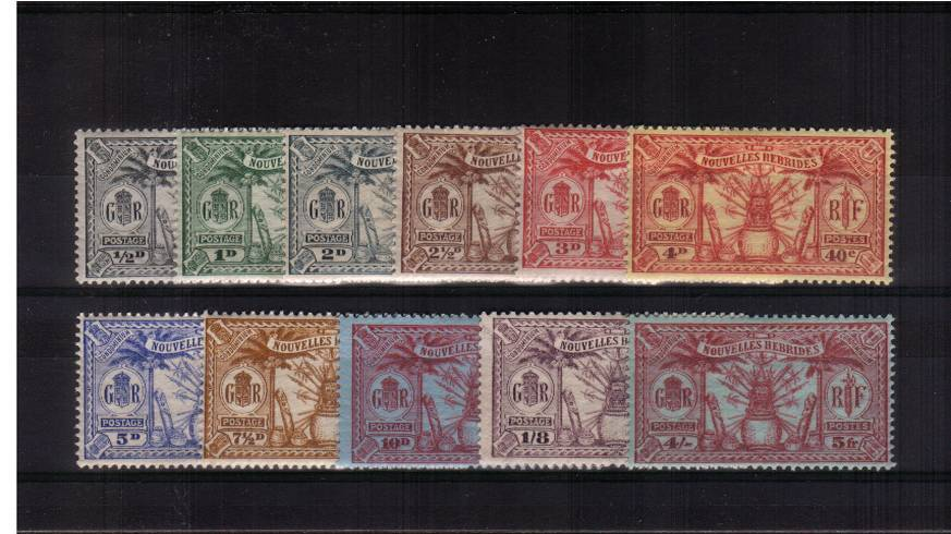The dual currency set of eleven superb unmounted mint. Rare set unmounted!