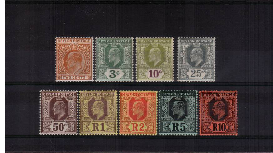 The WATERMAK MULTIPLE CROWN set of nine very fine lightly mounted mint. A lovely bright and fresh set.