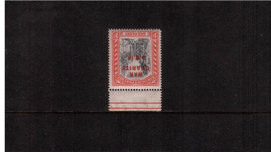 1d Gre-Black and Deep Carmine-Red<br/>