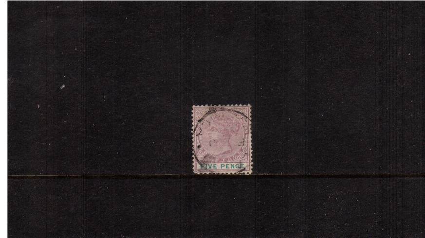 5d Dull Mauve and Green<br/>