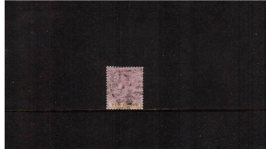 10d Dull Mauve and Yellow<br/>