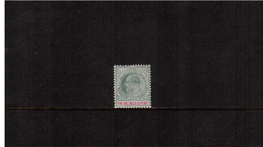2/6d Green and Carmine - Watermark Crown CA<br/>