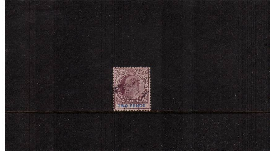 2d Dull Purple and Blue  - Watermark Multiple Crown CA<br/>