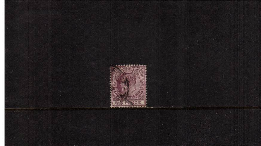 6d Dull Purple and Mauve - Watermark Multiple Crown CA<br/>A good used single SG Cat �></a>