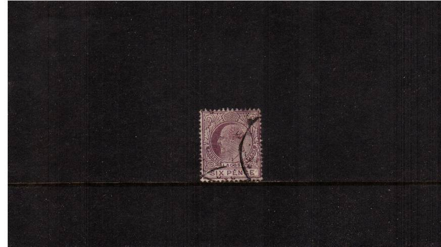 6d Dull Purple and Mauve - Watermark Multiple Crown CA<br/>