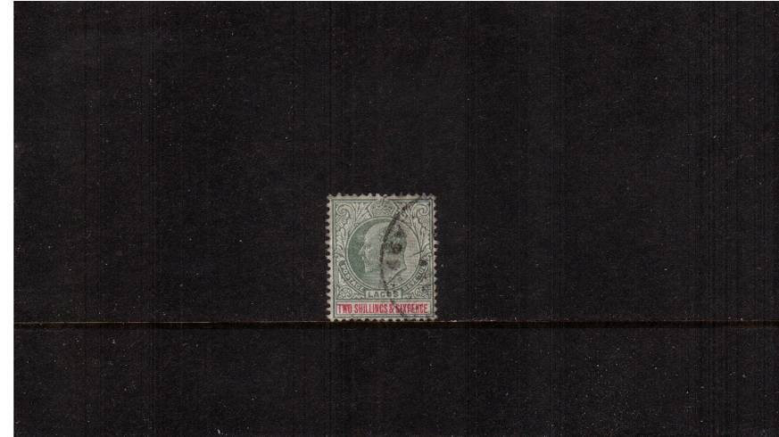 2/6d Green and Carmine - Watermark Multiple Crown CA<br/>