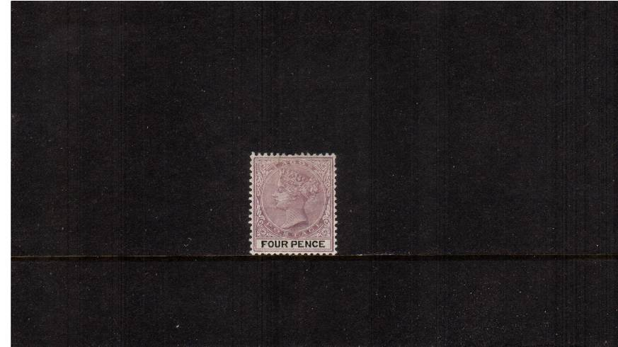4d Dull Mauve and Black<br/>