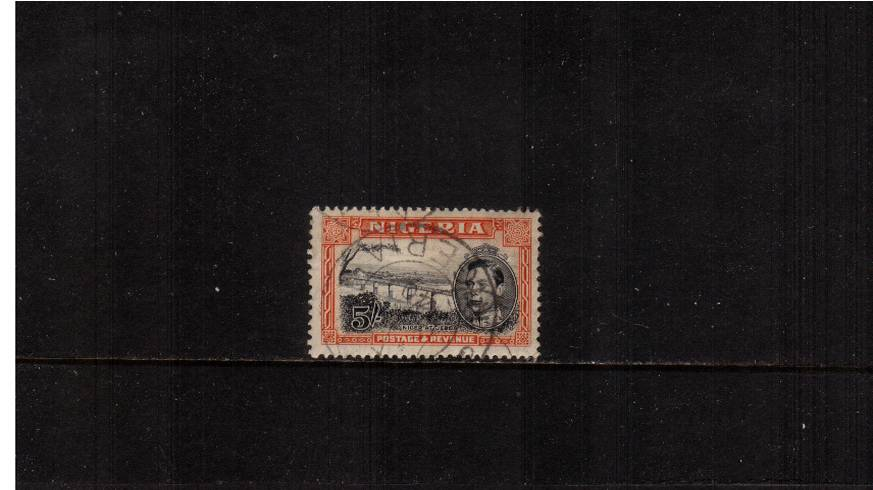 5/- Black and Orange - Perforation 13x11�br/>