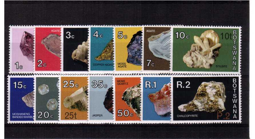 Minerals set of fourteen with surcharges superb unmounted mint.<br/><b>ZQB</b>